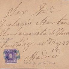 Sellos: F28-36- CARTA CENDEJAS DE LA TORRE. MATASELLOS CARTERÍA MATILLAS (GUADALAJARA) 1906. Lote 221328647