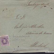 Sellos: F28-36-CARTA . MATASELLOS CARTERÍA SAELIZES (GUADALAJARA) 1905. BONITA CARTA ILUSTRADA INTERIOR. Lote 221328752
