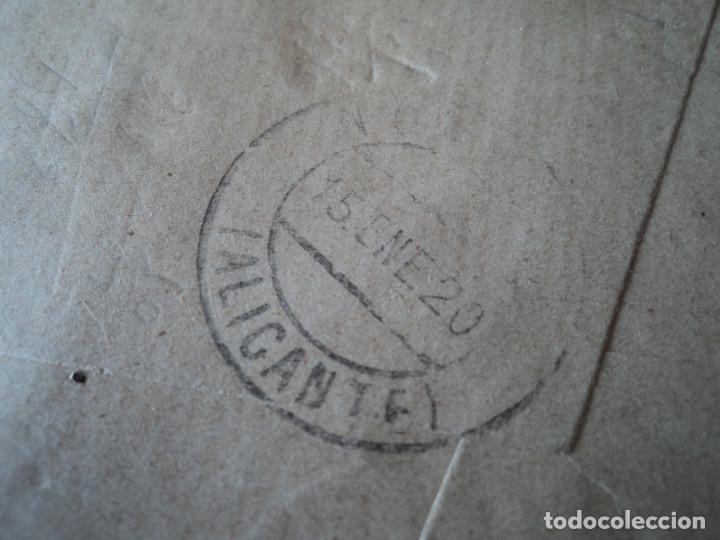 Sellos: sobre de perez y paradinas con sello de alfonso XIII 15 cts de madrid a novelda 1920 - Foto 3 - 221797478