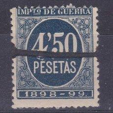 Sellos: LL7- FISCALES IMPUESTO GUERRA 4.50 PTAS AZUL USADO (CON GOMA **). Lote 221833871