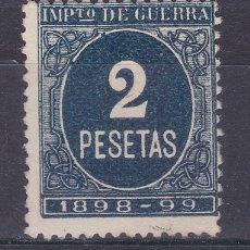 Sellos: LL7- FISCALES IMPUESTO GUERRA 2PTAS AZUL NUEVO (*) SIN GOMA. Lote 221834146