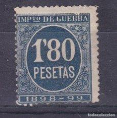 Sellos: LL7- FISCALES IMPUESTO GUERRA 1,80 PTAS AZUL NUEVO (*) SIN GOMA. Lote 221834171