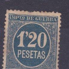 Sellos: LL7- FISCALES IMPUESTO GUERRA 1,20 PTAS AZUL NUEVO (*) SIN GOMA. Lote 221834200
