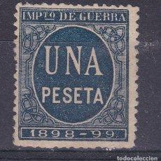 Sellos: LL7- FISCALES IMPUESTO GUERRA 1 PTA AZUL NUEVO (*) SIN GOMA. Lote 221834265