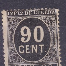 Sellos: LL7- FISCALES IMPUESTO GUERRA 90 CTS NEGRO NUEVO (*) SIN GOMA. Lote 221834315
