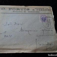 Sellos: SOBRE DE CARTA C. PORTIS SUCESOR DE R. FERRERI 1922 JUMILLA. Lote 221894088