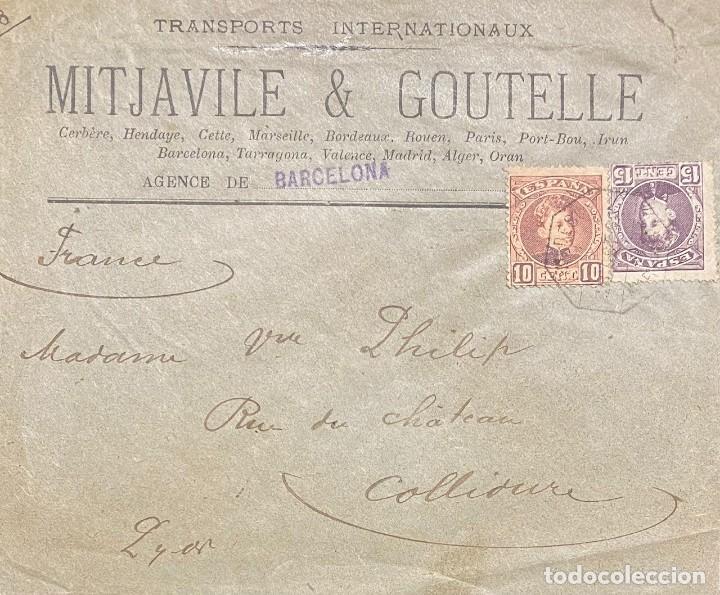 ESPAÑA, CARTA CIRCULADA EN EL AÑO 1902 (Sellos - España - Alfonso XIII de 1.886 a 1.931 - Cartas)