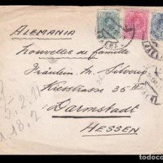 Sellos: *** CARTA JAÉN -HESSEN (ALEMANIA) 1921. ALFONSO XIII. EDIFIL 268-169 Y 274 ***. Lote 222042141