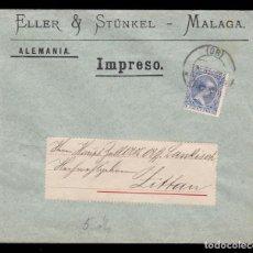 Sellos: *** CARTA MÁLAGA-ALEMANIA 1904. ELLER & STÜNKEL (MÁLAGA). EDIFIL 215 ***. Lote 222042515