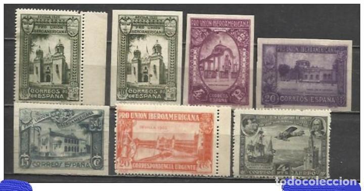 0870A-SELLOS ESPAÑA 1930 UNION IBEROAMERICANA REIMPRESIONES,SI RESEÑADAS EN CATALOGOS,DENTADOS O SI (Sellos - España - Alfonso XIII de 1.886 a 1.931 - Nuevos)