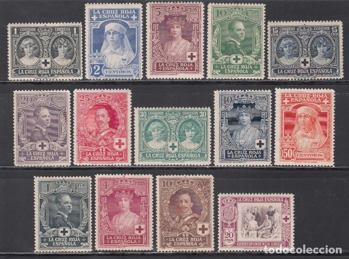 ESPAÑA, 1926 EDIFIL Nº 325 / 338 /*/, PRO CRUZ ROJA ESPAÑOLA. (Sellos - España - Alfonso XIII de 1.886 a 1.931 - Nuevos)