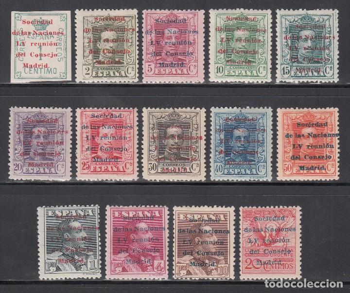 ESPAÑA, 1929 EDIFIL Nº 455 / 465 /*/ SOCIEDAD DE NACIONES, (Sellos - España - Alfonso XIII de 1.886 a 1.931 - Nuevos)