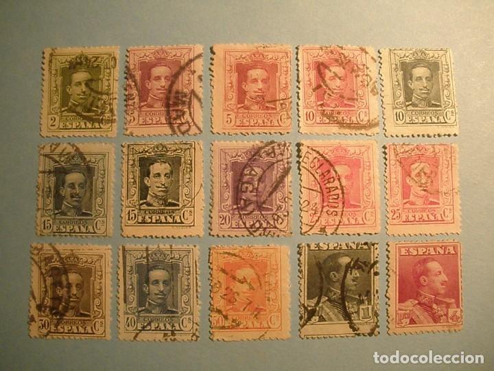 ESPAÑA 1922-30 - ALFONSO XIII, TIPO VAQUER - EDIFIL 310 AL 322. (Sellos - España - Alfonso XIII de 1.886 a 1.931 - Usados)