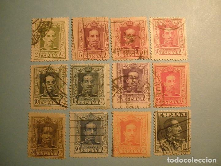 ESPAÑA 1922-30 - ALFONSO XIII, TIPO VAQUER - EDIFIL 310 AL 321. (Sellos - España - Alfonso XIII de 1.886 a 1.931 - Usados)