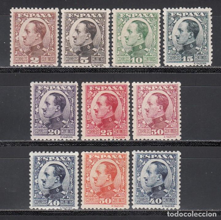 ESPAÑA, 1922-1931 EDIFIL Nº 490 / 498, 497A /*/ ALFONSO XII, TIPO VAQUER DE PERFIL, BIEN CENTRADOS (Sellos - España - Alfonso XIII de 1.886 a 1.931 - Nuevos)