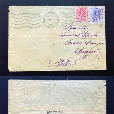 Sellos: ESPAÑA.AÑO 1913.CARTA CIRCULACIÓN MADRID-ITALIA.. Lote 222142586