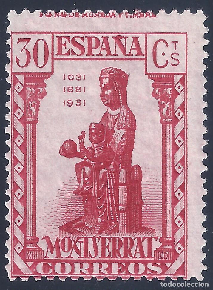 EDIFIL 643 CENTENARIO DE LA FUNDACIÓN DEL MONASTERIO DE MONTSERRAT 1931. VALOR CATÁLOGO:106 €. MLH. (Sellos - España - Alfonso XIII de 1.886 a 1.931 - Nuevos)