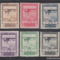 Sellos: ESPAÑA, 1929 EDIFIL Nº 448 / 453 , EXPOSICIÓN DE SEVILLA Y BARCELONA. AÉREOS. Lote 222229416