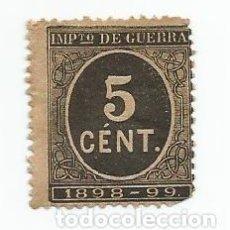 Sellos: LOTE DE 3 SELLOS DE 5 CENTIMOS DE 1898- IMPUESTO DE GUERRA- UNO NEGRO-ALFONSO XIII. Lote 222383535