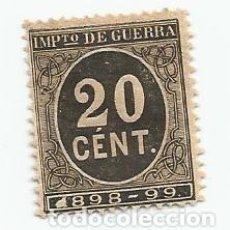 Sellos: LOTE DE 25 SELLOS DE 20 CENTIMOS DE 1898- IMPUESTO DE GUERRA-NUEVOS SIN GOMA-ALFONSO XIII-EDIFIL 239. Lote 222385555