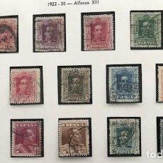 Sellos: EDIFIL 310 A 323 + 315A 315 B 317A USADOS SELLOS ESPAÑA 1922-30 ALFONSO XIII. Lote 223340026