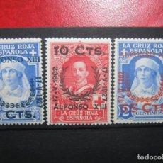 Selos: ESPAÑA ALFONSO XIII EDIFIL 373, 375 Y 377 NUEVO MLH** LUJO!!!. Lote 225062005