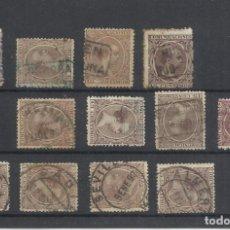 Sellos: 12 SELLOS FECHADORES Y CARTERIAS ANDALUCIA PORCUNA NIEBLA RIO TINTO HORNACHUELO HUELVA MALAGA CADIZ. Lote 226878422
