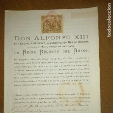 Sellos: ALFONSO XIII. MENOR DE EDAD- REINA REGENTE DEL REINO- PARA CURATO DE VILLALBA DEL ALCOR, AÑO 1889, V. Lote 227479610