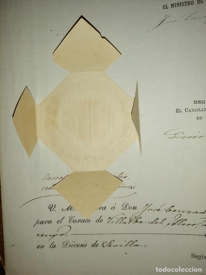 Sellos: ALFONSO XIII. MENOR DE EDAD- REINA REGENTE DEL REINO- PARA CURATO DE VILLALBA DEL ALCOR, AÑO 1889, V - Foto 4 - 227479610