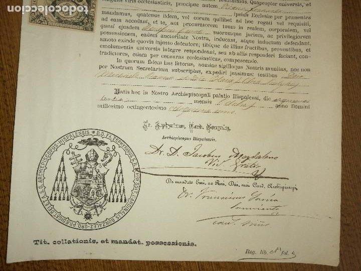 Sellos: ARCHIEPISCOPUS HISPALENSE,- PARA CURATO DE VILLALBA DEL ALCOR, AÑO 1889, VER FOTOS - Foto 3 - 227480425