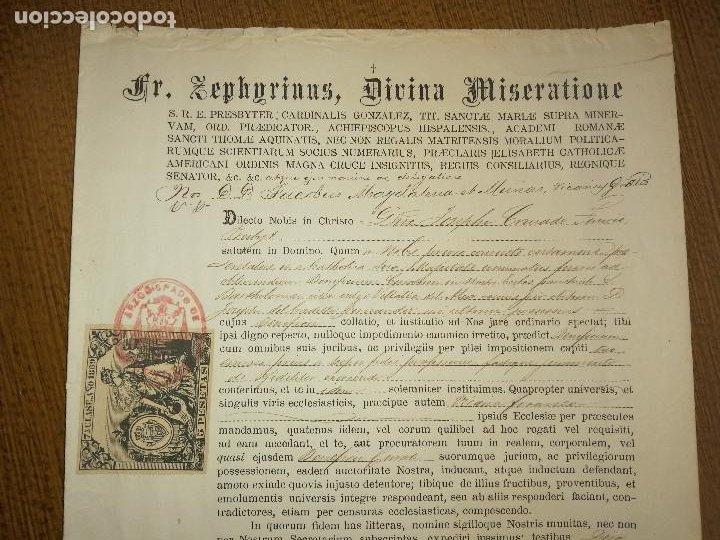 Sellos: ARCHIEPISCOPUS HISPALENSE,- PARA CURATO DE VILLALBA DEL ALCOR, AÑO 1889, VER FOTOS - Foto 4 - 227480425