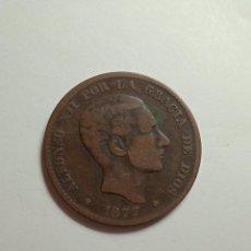 Sellos: MONEDA DE COBRE 10 CENTIMOS ALFONSO XII. OM AÑO 1877.. Lote 230372905