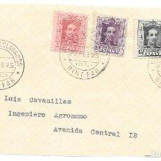 Timbres: VAQUER. EDIFIL 312-315-316. FRAGMENTO DE VALOR DECLARADO DE BINEFAR - HUESCA. 1925. Lote 232894482