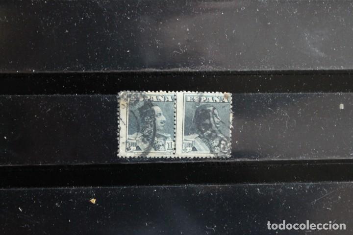 EDIFIL 321 EN PAREJA USADOS. ERROR MAL CENTRADO VERTICAL (Sellos - España - Alfonso XIII de 1.886 a 1.931 - Usados)