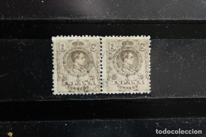 EDIFIL 267 EN PAREJA USADOS (Sellos - España - Alfonso XIII de 1.886 a 1.931 - Usados)