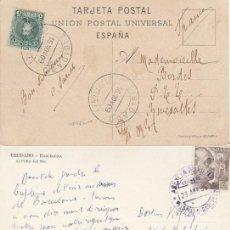 Sellos: TRES POSTALES DE 1909/55 CON DIFERENTES MATASELLOS DEL TIBIDABO (BARCELONA).. Lote 234058355