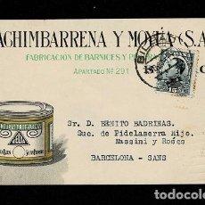 Sellos: 0603-2 TARJETA POSTAL INDUSTRIAL PUBLICITARIA DE MACHIMBARRENA Y MOYA S.A.FABRICACION DE BARNICES Y. Lote 234142435