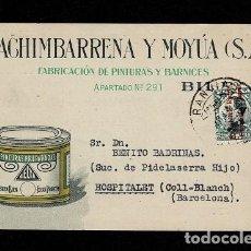 Sellos: 0603-3 TARJETA POSTAL INDUSTRIAL PUBLICITARIA DE MACHIMBARRENA Y MOYA S.A.FABRICACION DE BARNICES Y. Lote 234143475