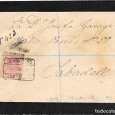 Sellos: CATALUÑA MEDALLON EDIFIL 276. CERTIFICADO CIRCULADO DE MARTORELL A MATARO. 1916. Lote 234286940