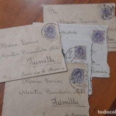 Sellos: 5 SOBRES DE CARTAS 1916. Lote 234320560