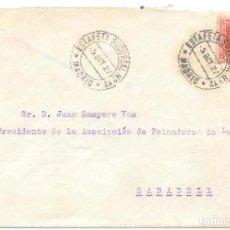Sellos: MADRID VAQUER EDIFIL 317. SOBRE CIRCULADO DE MADRID A SABADELL 1927. Lote 234337925
