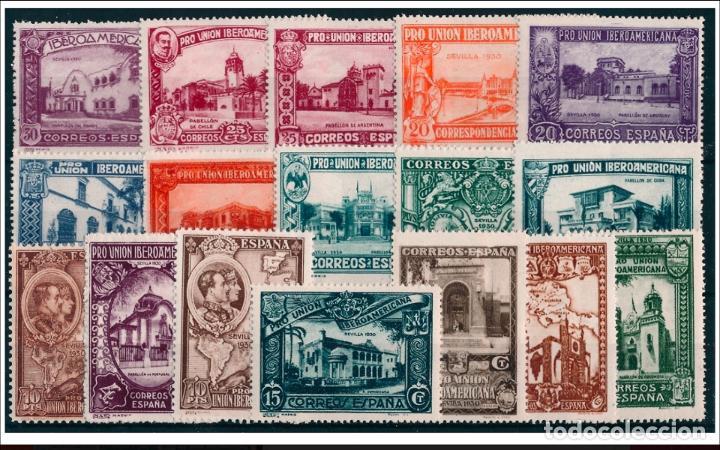 ESPAÑA - 1930 - ALFONSO XIII - EDIFIL 566/582 - SERIE COMPLETA - MH* - NUEVOS - VALOR CATALOGO 203€ (Sellos - España - Alfonso XIII de 1.886 a 1.931 - Nuevos)