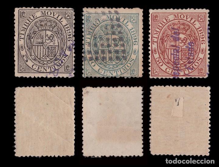 Sellos: Fiscal.1896.Timbre Movil.Matasello.Galvez 87-88-91 - Foto 2 - 235555730