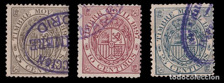 Sellos: Fiscal.1897.Timbre Movil.3.Matasello.Galvez 92-93-94 - Foto 2 - 235558400