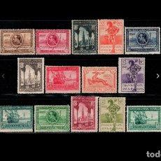 Sellos: ESPAÑA - 1929 - ALFONSO XIII - EDIFIL 434/447 - SERIE COMPLETA - MH* - NUEVOS - VALOR CATALOGO 243€. Lote 235600125