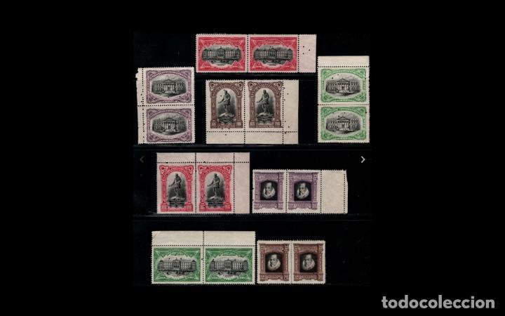 ESPAÑA - 1916 - EDIFIL FR11/FR18 - SERIE COMPLETA - MNH** - NUEVOS - PAREJAS - BORDE DE HOJA - LUJO (Sellos - España - Alfonso XIII de 1.886 a 1.931 - Nuevos)