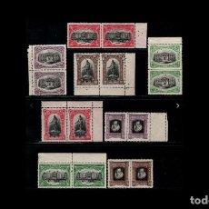 Sellos: ESPAÑA - 1916 - EDIFIL FR11/FR18 - SERIE COMPLETA - MNH** - NUEVOS - PAREJAS - BORDE DE HOJA - LUJO. Lote 235601230