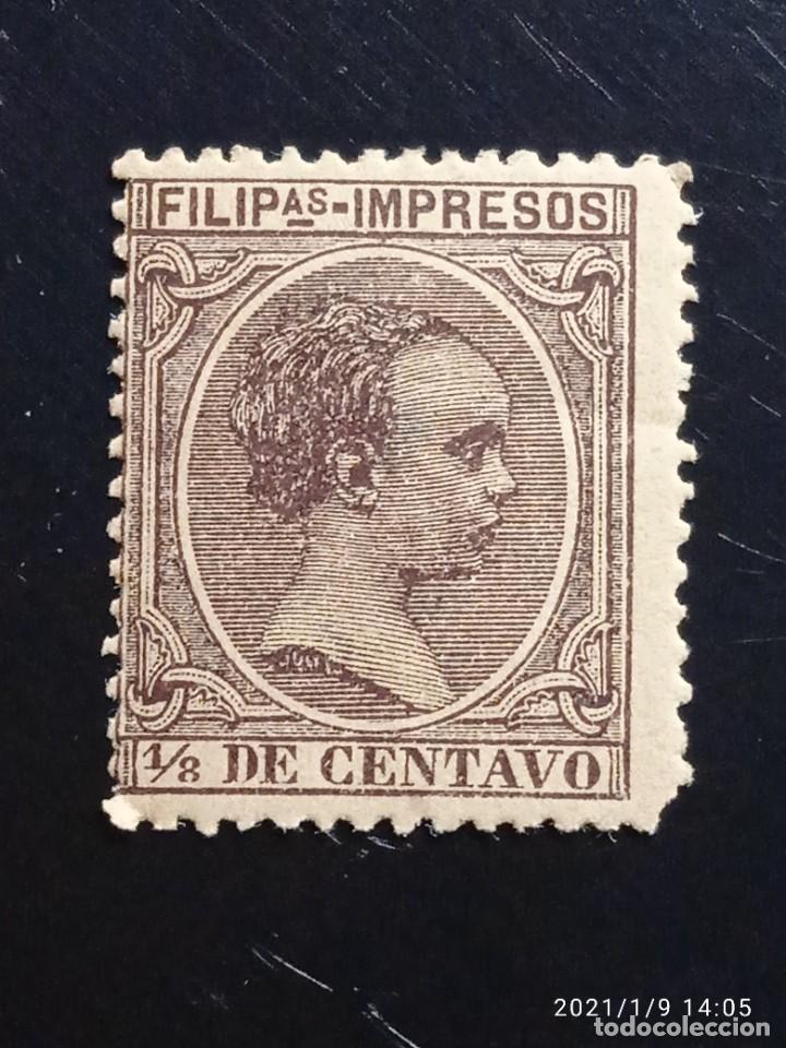 ESPAÑA PHILIPPINES 1,8 DE CENTAVO ALFONSO XIII 1889. (Sellos - España - Alfonso XIII de 1.886 a 1.931 - Usados)