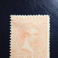 Sellos: ESPAÑA PHILIPPINES 12,4/8 CENTAVOS DE PESO ALFONSO XIII 1893,. Lote 235849260
