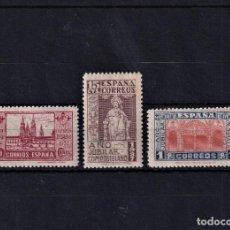 Sellos: SELLOS ESPAÑA 1937 EDIFIL 833/835 SERIE COMPLETA EN NUEVO CON FIJASELLOS V.CAT, 52. Lote 236141065